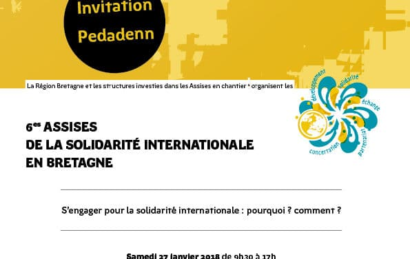 6ème Assises de la solidarité internationale en Bretagne